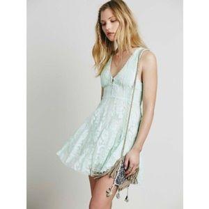 FP Reign Over Me Mint Lace Dress